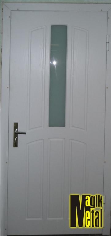 Дверь с МДФ и стеклоблоком